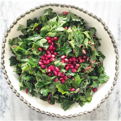 Pomegranate and Parsley Salad